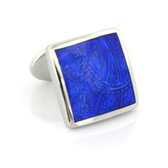 Check out the deal on Sterling Royal Blue Paisley Cufflinks at Cufflinks Depot