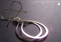 Sterling Silver Tendril Hammered Hoop Earrings