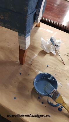 2-como-pintar-la-tela-de-un-sillon Bright Kitchens, Diy Room Decor, Home Decor, Ceramic Art, Chalk Paint, Decoupage, Restoration, Recycling, New Homes