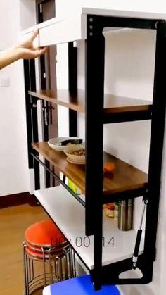 Small Room Furniture, Room Furniture Design, Folding Furniture, Space Saving Furniture, Home Room Design, Home Decor Furniture, Home Interior Design, Furniture Decor, Multifunctional Furniture Small Spaces