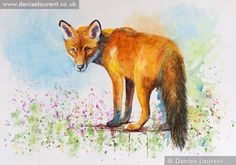 Fox On The Wall  par Denise Laurent