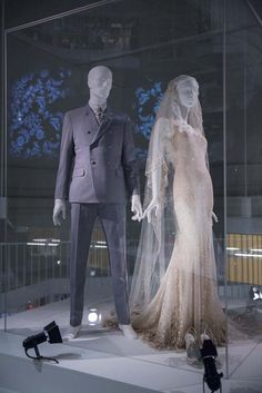 Kate Moss's wedding dress and veil designed by John Galliano, 2011. Worn for her marriage to Jamie Hince. Silk chiffon, silk georgette and silk tulle, hand-embroidered with sequins and pearls. [Courtesy Photo]