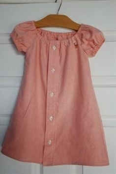 A little girls dress made from her daddy's shi | Pinterest Most Wanted