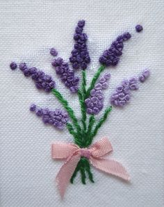 Wonderful Ribbon Embroidery Flowers by Hand Ideas. Enchanting Ribbon Embroidery Flowers by Hand Ideas. Brazilian Embroidery Stitches, Hand Embroidery Stitches, Hand Embroidery Designs, Silk Ribbon Embroidery, Embroidery Kits, Cross Stitch Embroidery, Handkerchief Embroidery, Leather Embroidery, Embroidery Boutique