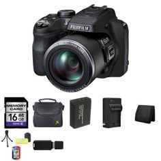 Fujifilm FinePix SL1000 16.2 Megapixel Digital Camera SL1000 16304630   16GB SDHC Class 10 Memory Card   Carrying Case   NP-85 Lithium-Ion Battery Pack (3.7V, 1700mAh)   Compact AC/DC Charger for NP-85 Battery   Memory Wallet   Table Top Tripod, Lens Cleaning Kit, LCD Protector   USB SDHC Reader -- Want additional info? Click on the image.