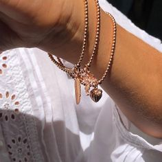 Annie Haak, the Award-winning jeweller, designs a variety of styles in Sterling Silver, Gold and Rose Gold, featuring precious stones. Beauty Style, Fashion Beauty, Annie, Charms, Rose Gold, Jewellery, Sterling Silver, Bracelets, Earrings