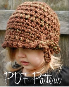 Crochet PATTERN-The Mylie Cloche' Toddler Child di Thevelvetacorn