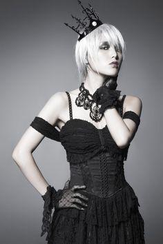 Punk-rave Y-413 femelle noir gothique élégant velours Haut Bolero Veste