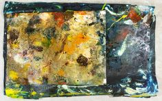 Lot 349: Matt Lamb (American, 1932-2012) Mixed Media on Canvas; Three paintings signed lower left or right, depicting abstract images