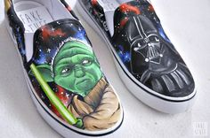 #starwars #yoda #shoes #vans #handmade