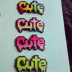 Cute Perler Necklace by SugaryPaws on Etsy