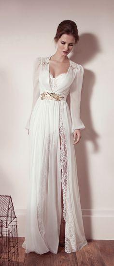 Lihi Hod 2013  Hm. I don't think I'd pick this as my wedding gown, but it'd make a glamorous night gown!