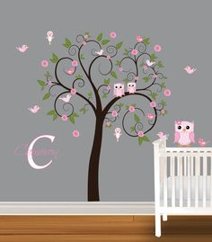 Children+Wall+Decal+Girls+Nursery+Vinyl+Wall+by+NurseryDecals,+$79.99