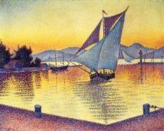 Saint-Tropez, the Port at Sunset - Paul Signac - The Athenaeum
