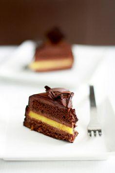 Choco Orange Mousse Cake - Cut by bossacafez,