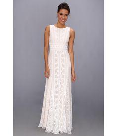 "BCBGMAXAZRIA ""Kelley"" Woven Lace Evening Gown - 6pm.com"