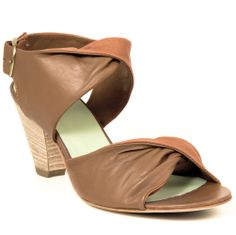 Gidigio Italiana sandals, in a 2 tone tan and latte colored leather combination from Bulo Shoes
