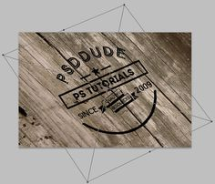 Create an Engraved Wood Logo in Photoshop - Photoshop tutorial | PSDDude
