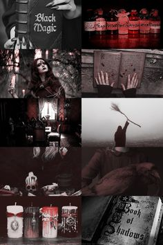 RoseClasse Fae Aesthetic, Aesthetic Collage, Character Aesthetic, Dark Red Wallpaper, Witch Names, Skulduggery Pleasant, Magick Book, Filters For Pictures, Dark Witch