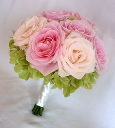 Pink Rose And Hydrangea Bouquet | rose-hydrangea-bouquet | Flickr - Photo Sharing!