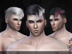 The Sims Resource: Obscura hair by Stealthic • Sims 4 Downloads