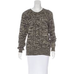 Pre-owned ?toile Isabel Marant Cable Knit Wool Sweater ($175) ❤ liked on Polyvore featuring tops, sweaters, neutrals, chunky cable knit sweater, chunky cable sweater, woolen sweater, cable-knit sweater and etoile isabel marant sweater
