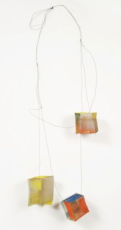 Heidemarie Herb Necklace: Netzwerk 2012 Brass mesh, melted colours, pigments, Ag, iron wire