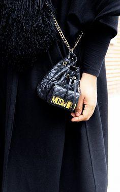 A cute black Moschino bag