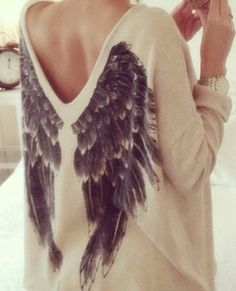 Winged sweater