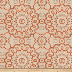 Mount Vernon Prosperity Cinnamon from @fabricdotcom  This beautiful heavyweight fabric features a medallion embroidery throughout. Perfect for draperies, swags, duvet covers, shams, toss pillows, and light upholstery projects.