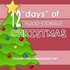 """Budget-Friendly"" 12 Days of Food Storage Christmas"