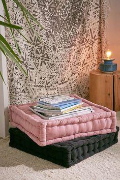 Slide View: 1: Tufted Corduroy Floor Pillow