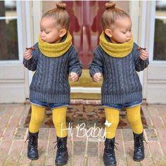 Kids fashion -looks like a little Ashley ; Toddler Girl Style, Toddler Fashion, Toddler Fall Outfits Girl, Fashion Kids, Fall Baby Outfits, Stylish Toddler Girl, Children Outfits, Children Costumes, Toddler Boys