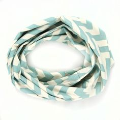 Chevron Scarf Blue Cream, $30, now featured on Fab.