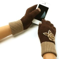 New Ladies Winter Fancy Crochet Flower with beads and sequins Dressy Casual Knit Magic Touch Screen Thumb Index Technology Glove Outdoor Indoors Gloves with 2 Tone with 2ply Knit Ribbed Elast Wrist Magic Touch Glove for Tablet PC, Ipods, Ipads, Iphones, Laptops, Touchscreens, PDA and so much more New Technology, it's amazing! Keep your glove on and adjust your electronic devices. Warm and Comfortable Super soft