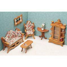 Dollhouse Furniture Kit-Living Room, Multicolor
