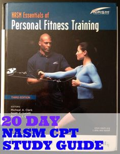 NASM Personal Training Certification | I need to remember this when I am studying
