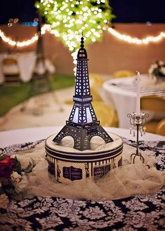 Paris decor for wedding reception