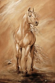 #Horse Art: SHADOWDANCER - Acrylic on canvas by Diana Martin - http://dunway.us
