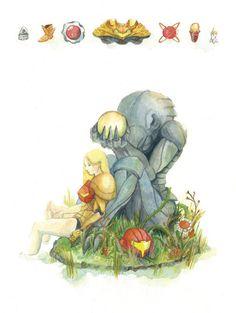 Lovely Game Illustrations -Samus | GamesNEXT #Nintendo