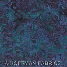 Hoffman Bali Batik - Bali Chop - Floral Swirl Iris L2635-40
