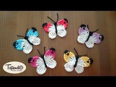 Mariposas tejidas a ganchillo. ༺✿ƬⱤღ  https://www.pinterest.com/teretegui/✿༻