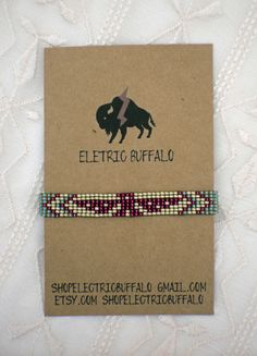 Turqouise and Purple Beaded Bracelet by ShopElectricBuffalo