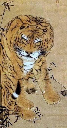 Detail. 長沢芦雪. Tiger. Nagasawa Rosetsu. After 1786. Japanese hanging scroll. Eighteenth century.