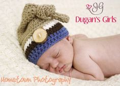 Crochet by Dugan's Girls {Knotted Pixie hat}