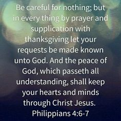 Thanksgiving -peace-and a kept heart and mind!