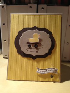 Embellished Events Baby Card with Duck