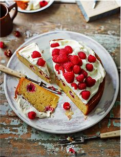 Raspberry Sauternes cake with Chantilly cream... a little bit of what you fancy