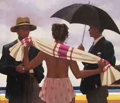 Jack Vettriano - 'Clouds Are Gathering' - Oil on canvas