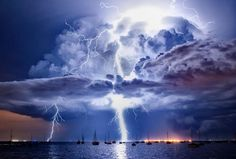 A storm hit Melbourne (Australia) on 14th March. This stunning photograph of it was captured at Corio Bay. The most powerful force on earth - Mother Nature  — by Priyanka Kajal.